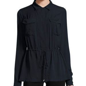 Theory 'Karafinna' Silk Georgette Shirt Jacket